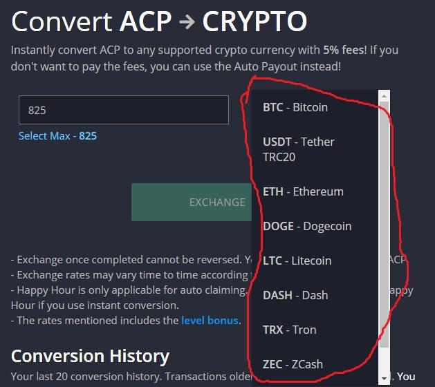 firefaucet convert acp a crypto